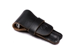 Black Leather Safety Razor Pouch