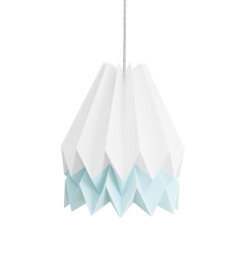 White & Blue Origami Lightshade
