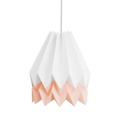 White & Pink Origami Lightshade