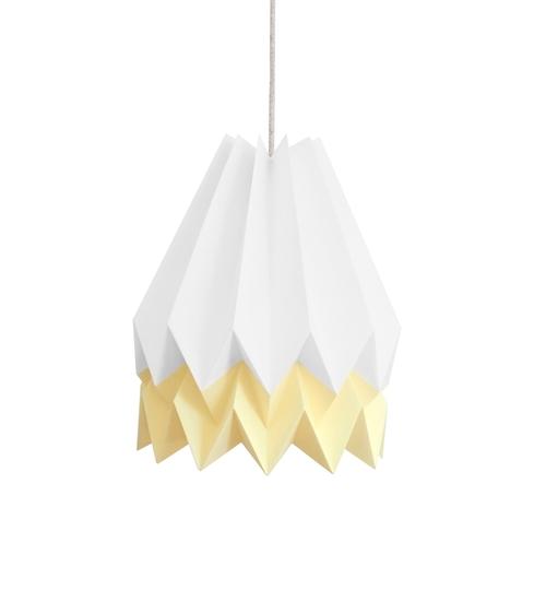 White & Yellow Origami Lightshade