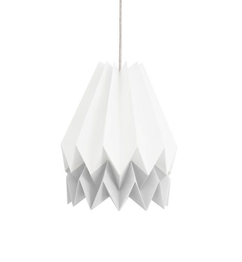 White & Grey Origami Lightshade