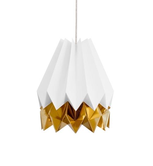 White & Gold Origami Lightshade