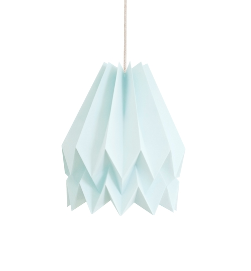 Mint Blue Origami Lightshade