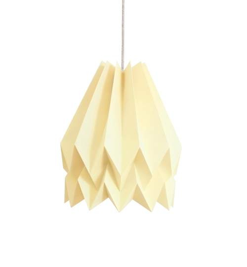 Pale Yellow Origami Lightshade