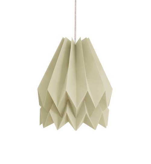 Light Taupe Origami Lightshade