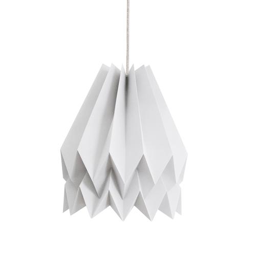 Light Grey Origami Lightshade