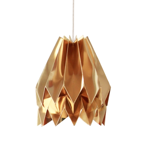 Warm Gold Origami Paper Lightshade
