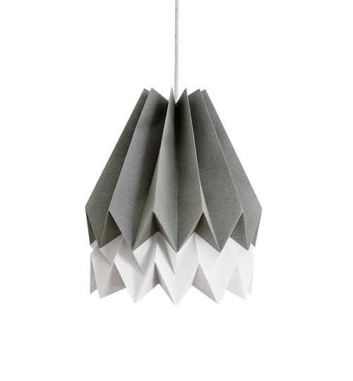 Alpine Grey & Grey Origami Lightshade