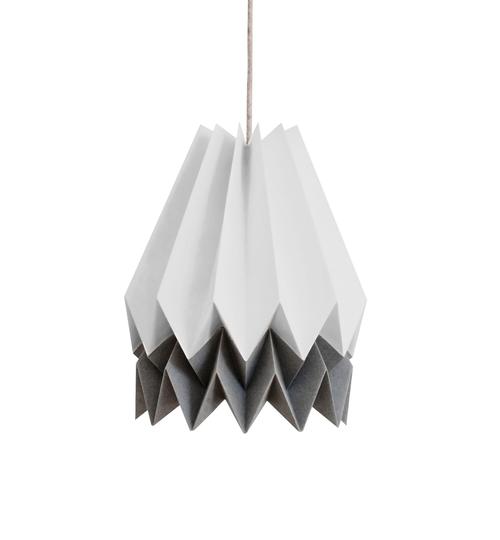 Light Grey & Grey Origami Lightshade