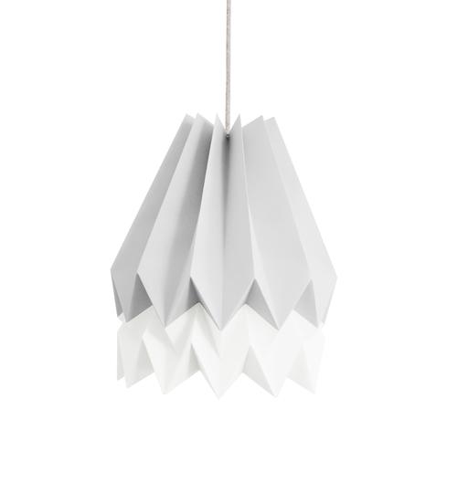 Light Grey & White Origami Lightshade