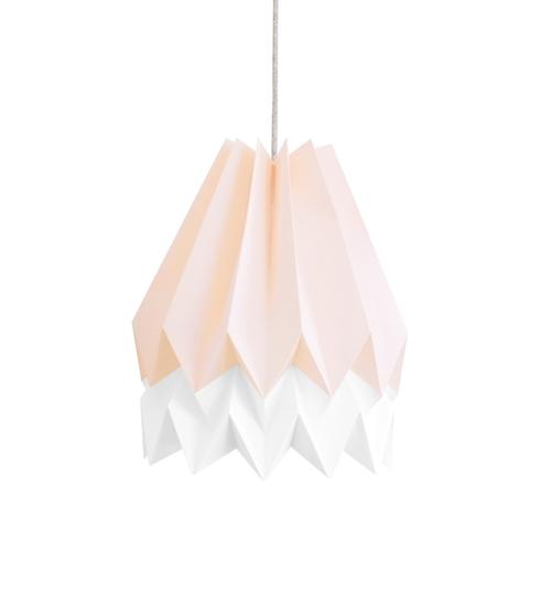 Pastel Pink & White Origami Lightshade
