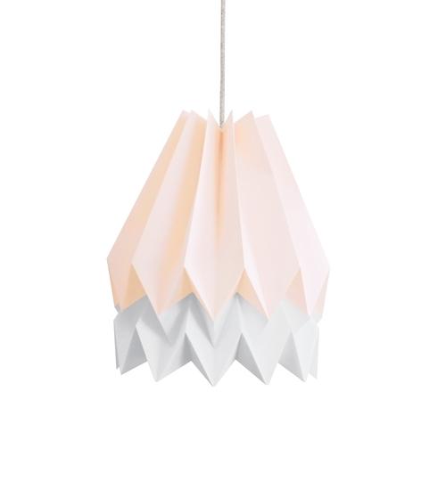 Pastel Pink & Grey Origami Lightshade