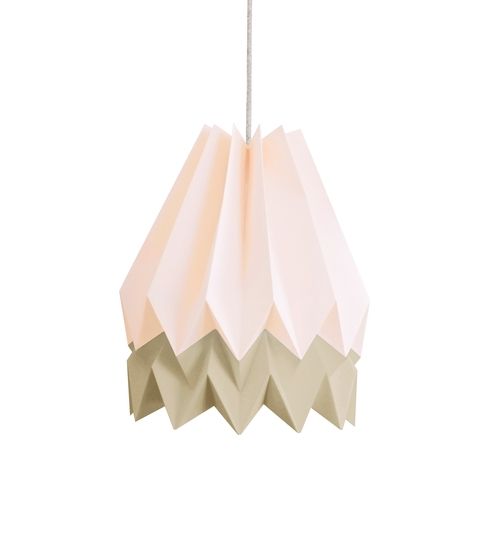 Pastel Pink & Taupe Origami Lightshade