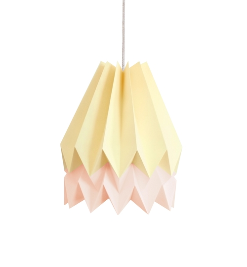 Pale Yellow & Pink Origami Lightshade