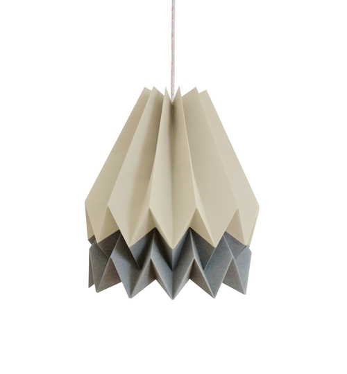 Taupe & Alpine Grey Origami Lightshade