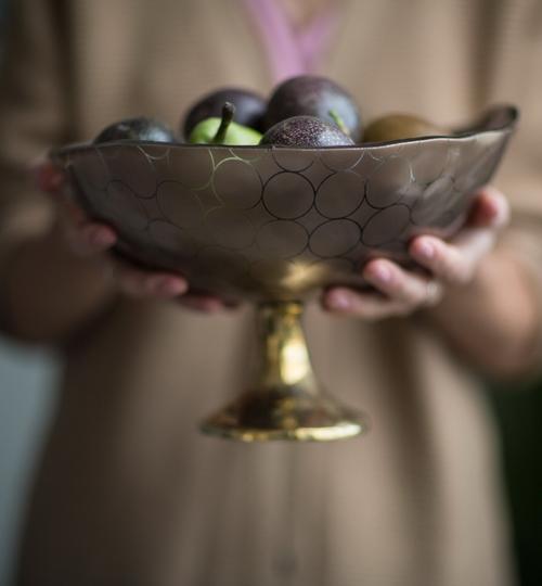 Fruit Bowl With A Pedestal 'Via'