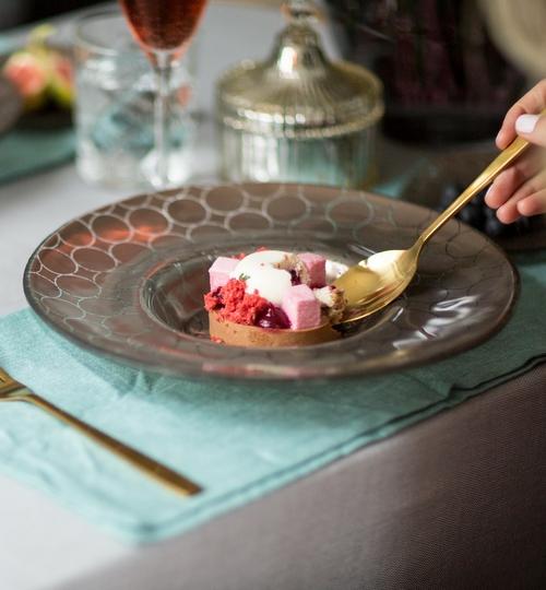 Wide-Rimmed Dessert Bowl Set 'Sibel'