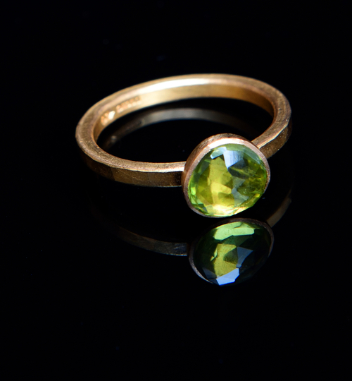 bright green peridot ring